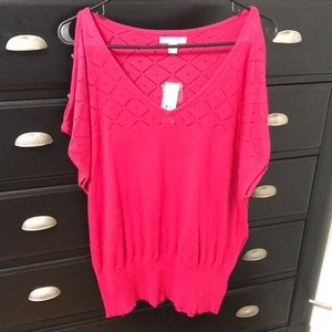 NWT NY and CO Fuchsia Pink Blouse, Size M